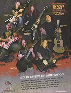Magazine Print ad: 2006 ESP Guitars & Basses, with Musicians Alexi Laiho-Dan Jacobs-Will Adler-Michael Amott-Jesper Stromblad-Travis Miguel,