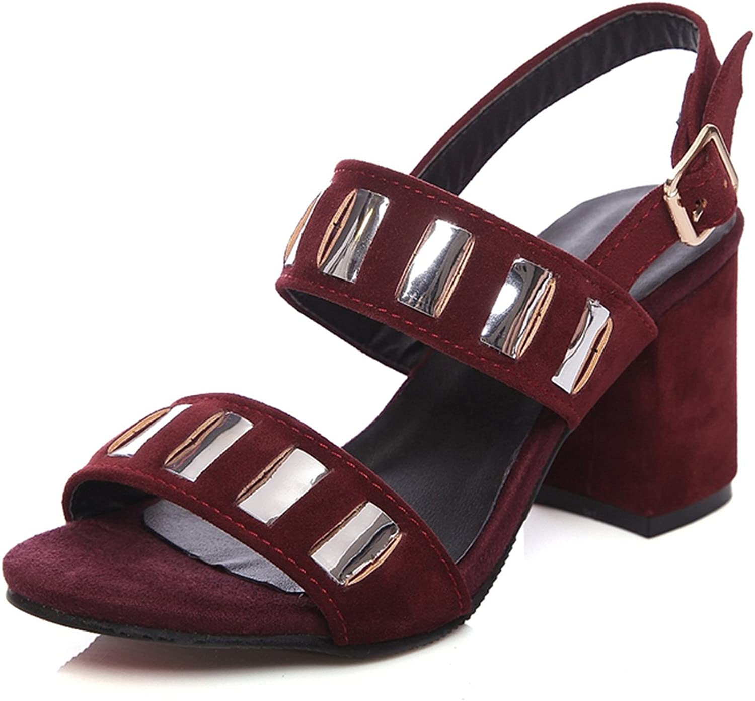 Nerefy Big Size 34-46 Crystals Ankle Strap Summer shoes Women Sandals Square High Heels Date Footwear