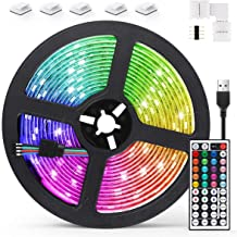 AGPTEK 5M LED Strip Lights RGB 5050 Colorful Lights with Remote Control 20 Colors 8 Brightness Modes Decorative LED Tape L...