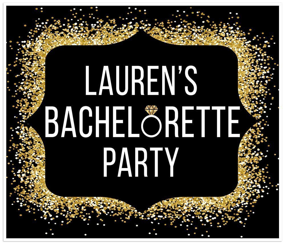 Bachelorette Banner Max 81% OFF Black and Gold Glitter Be Bride Party Dec Max 84% OFF to