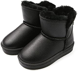 Kids Snow Boots Fur Lined Slip-On Warm Girl Snow Boots...