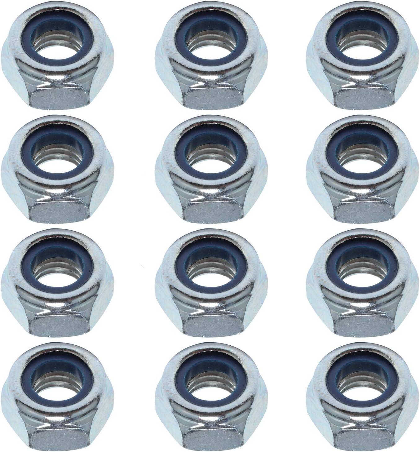 Easyboost 12 Tuercas Autoblocantes M5 Acero Zincado DIN-985 ISO-10511 UNI-7474 Elementos de Fijación Resistente Bricolaje Modelismo Mecánica