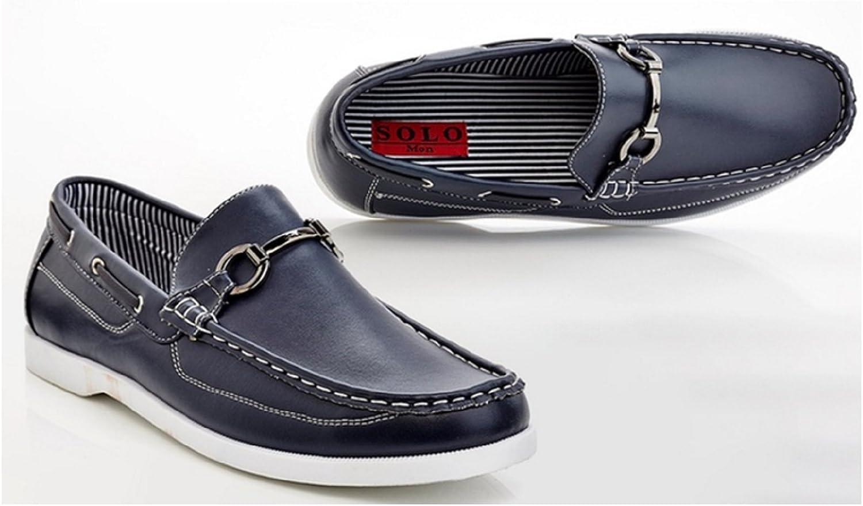 Solo Brad herrar herrar herrar Loafer Boat skor Slip -on - Storlek 8 Navy  billig grossist