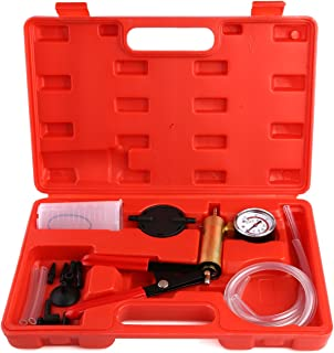 FEMOR Hand Held Brake Bleeder & Vacuum Pump Test Tuner Kit Tools with Case, 2 in 1 Automotive Tools with Adapters for Vehicle