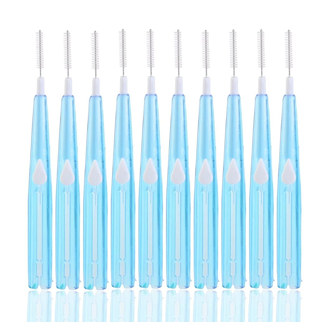 困難メジャーセミナーHealifty 歯間ブラシ歯間フロスクリーナー歯科用オーラルケアツール8本(ブルー)