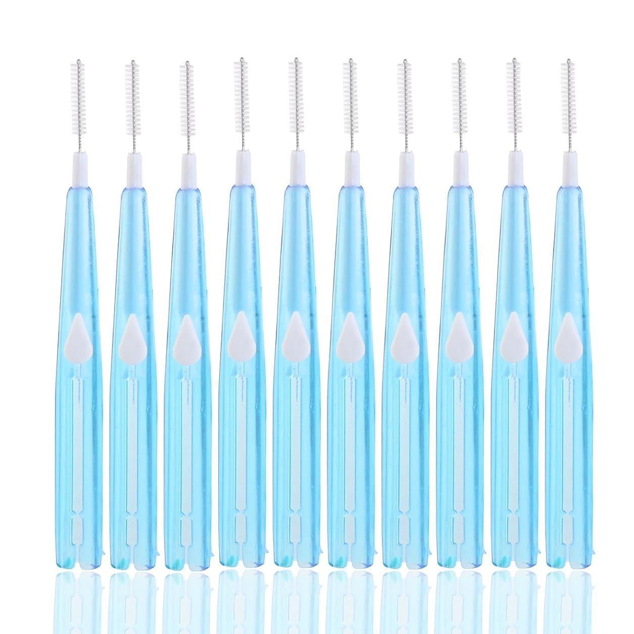 アジアクラスジョセフバンクスHealifty 歯間ブラシ歯間フロスクリーナー歯科用オーラルケアツール8本(ブルー)