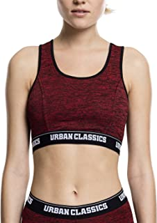 Urban Classics Women's Ladies Active Melange Top Logo Bra Sport-BH