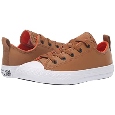 Converse Kids Chuck Taylor All Star Puffer Stitch Ox (Little Kid/Big Kid) (Burnt Caramel/Bright Poppy/White) Boy