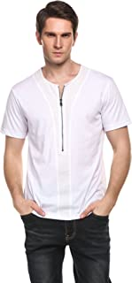 COOFANDY Men's Casual Slim Fit Short Sleeve Henley T-Shirts Cotton Shirts