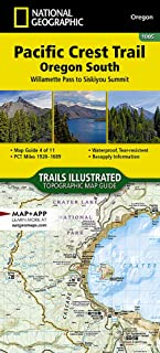 Pacific Crest Trail, Oregon South [Willamette Pass to Siskiyou Summit] (National Geographic Topographic Map Guide)