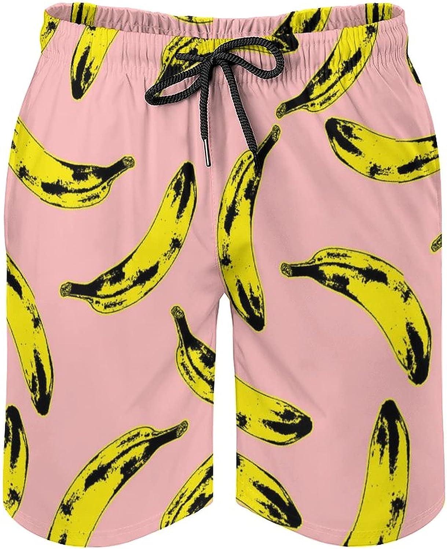 DQRIFGL Mens Print Swim Trunks Swimwear Quick Dry Bathing Suit Summer Beach Board Shorts
