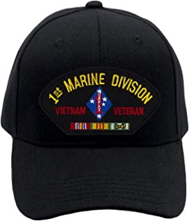 PATCHTOWN USMC - 1st Marine Division - Vietnam Hat/Ballcap Adjustable One Size Fits Most