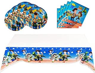 Toy Story Party Supplies, 20 Plates, 20 Napkins and 1 Tablecloth, Children 's Birthday Party Decoration