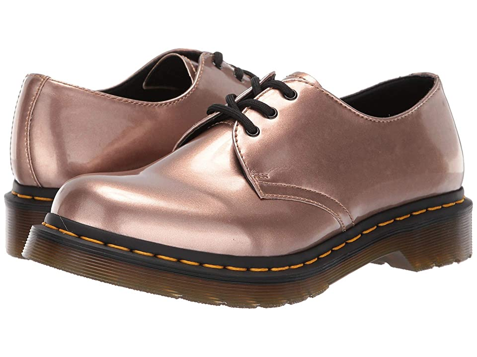 Dr. Martens 1461 Vegan Metallic Chrome (Rose Gold) Women