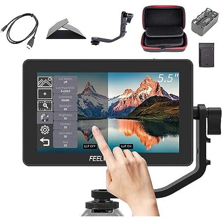 【PSE認証取得】Feelworld F6 Plus カメラビデオモニター、撮影モニター、液晶 モニター,3D LUTのサポートIPS FHD 1920x1080 4K HDMI 出力/入力 信号 一眼レフカメラ用 日本語設定可能