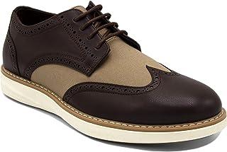 أحذية نوتيكا رجالي اللباس Wingtip ، الرباط أكسفورد الأعمال عارضة