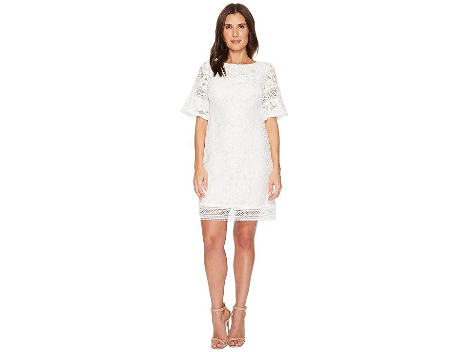 LAUREN Ralph Lauren Abrila Magna Blooming Dress (White/Lauren White) Women