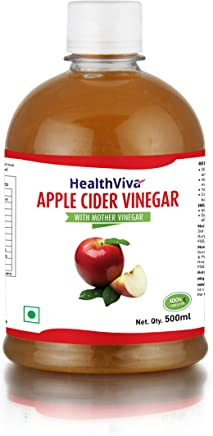 HealthViva Apple Cider Vinegar with Mother, 500 ml