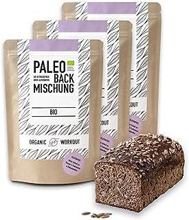 Organic Workout PALEO-BACKMISCHUNG 3er Pack   Bio   Brot-Alternative-gluten-frei   lower-carb   Eiweiss-Brot   clean-eating   Fitness   hefefrei   ohne Getreide   hergestellt in Deutschland …