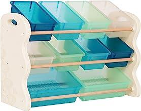 B. spaces by Battat BX1630Z B organizer do zabawek z 10 pojemnikami do przechowywania dla dzieci, modny zestaw mebli dla m...