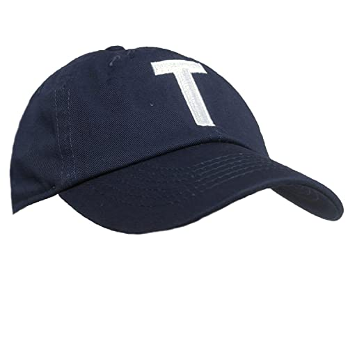 1ecf74008a77fe Tiny Expressions Toddler Boys' and Girls' Navy Embroidered Initial Baseball  Hat Monogrammed Cap