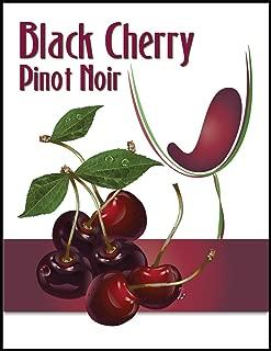Black Cherry Pinot Noir Wine Bottle Label