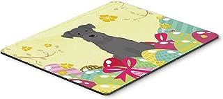 Caroline's Treasures Easter Eggs Miniature Schnauzer Black Mouse Pad, Hot Pad or Trivet, Multicolor, 7.75x9.25 (BB6051MP)