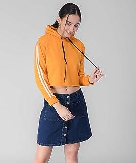 Tamina Women's Full Sleeves Crop Sweatshirt