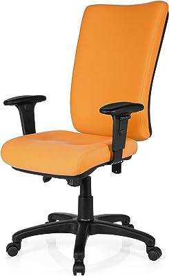 Sedia Girevole Zenit High Tessuto Arancione