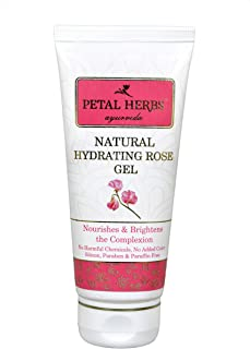Petal Herbs Ayurveda Natural Hydrating Rose Gel to protect from wrinkles and brightens the complexion 100 ml: Silicon Paraben Paraffin Free