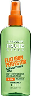 Garnier Fructis Style Flat Iron Perfector With Heat Protection For Straighter Hair,6 Ounce