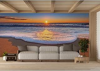 Fotomural Vinilo para Pared Espuma de Mar al Atardecer | Fotomural para Paredes | Mural | Vinilo Decorativo | Varias Medidas 600 x 300 cm | Decoración comedores, Salones, Habitaciones.