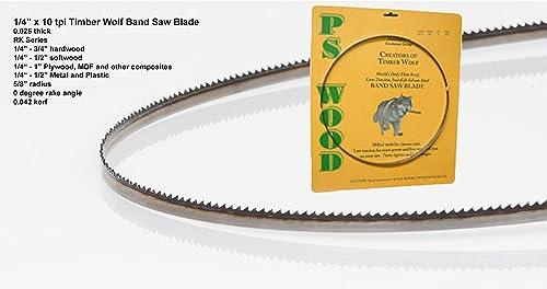 "2021 Timber Wolf Bandsaw outlet online sale Blade 1/4"" x lowest 93-1/2"", 10 TPI outlet online sale"