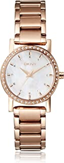 Dkny Ny8121 29Mm Rose Gold Steel Bracelet & Case Mineral Women's Watch, Analog Display