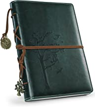 Refillable Writing Journals,Vintage Faux Leather Bound Notebook for Women with Lined Paper,Daily Use Gifts for Teachers/Girls/Travelers/Bloggers-Tree of Life Small A5