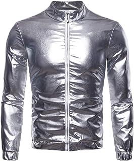 Legou Men's Full Zip Varsity Nightclub Party Jacket