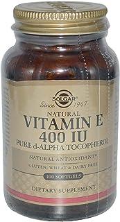 Solgar, Natural Vitamin E, 400 IU, Pure d-Alpha Tocopherol, 100 Softgels