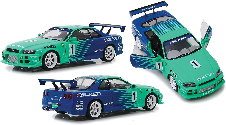 contador genuino 1999 Nissan Skyline GT-R BNR34 1 Falken Falken Falken Tires 1 18 verdelight 19050  más orden