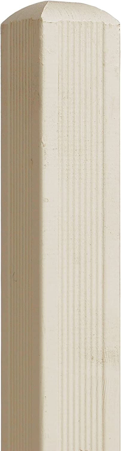 Andrewex wooden post, squared timber, wooden fence, fencing panel, garden fence 7x7x185, varnished, latte