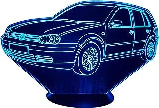 VW GOLF 4, Lampada illusione 3D con LED - 7 colori.