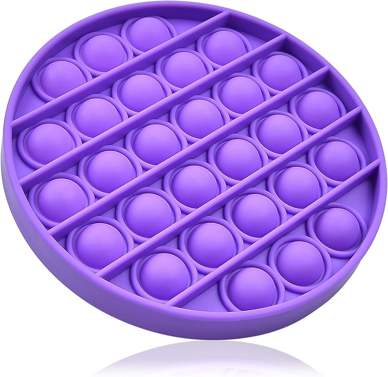 Grandisk Push Pop Bubble Sensory Fidget Toy Jouet Sensory Toy Anti-Stress Silicone Sensoriel Toy soulager Besoins Sp/éciaux Stress pour Autisme anxi/ét/é Enfants et Adultes