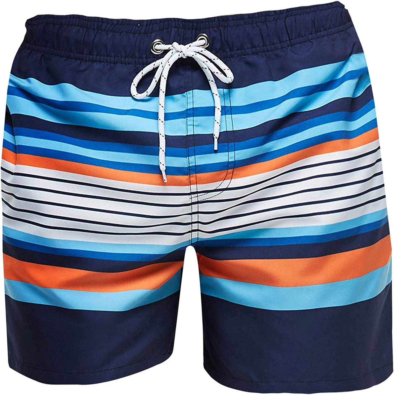 Men's Board Short Swimwear, Swim Trunks Quick Dry Slim fit Lightweight Beach Short with Pocket Sport Volley
