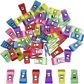 60個入り 仮止めクリップ クリップ 裁縫用品 プラスチック 便利グッズ 6色 各色10カウント
