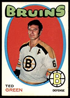 1971 O-Pee-Chee Regular (Hockey) card#173 Ted Green of the Boston Bruins Grade Excellent