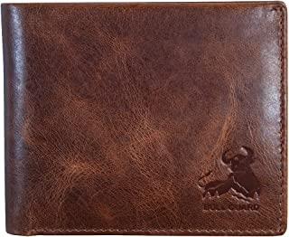 Sponsored Ad - Mens RFID Blocking Bifold Wallet Soft Genuine Leather Brown Western