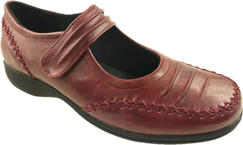Mary Jane Zapatillas de piel sint/ética para mujer talla 4-9