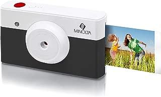 Minolta MNCP10-CH Instapix 2 in 1 Instant Print Digital Camera & Bluetooth Printer, Charcoal