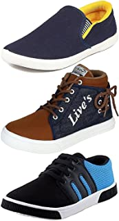 Ethics Perfect Combo Pack of 3 Casual Sneaker Shoes for Men