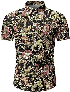 Nuevo 2020 Camisas Hawaianas Hombre Manga Corta Camisa Estampados Verano Shirt Corte Slim Pequeño Floral Playa Blouse Info...