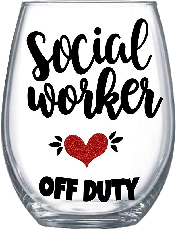 Social Worker Retirement Gift For Women 20oz Funny Stemless Wine Glass 0140